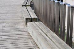 Plancher antiseptique de bois de construction Images libres de droits