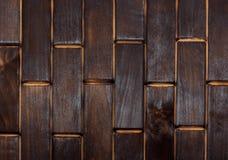 Plancher carbonisé en bois de petits plats Vue de ci-avant Plancher comme élément de l'intérieur image libre de droits