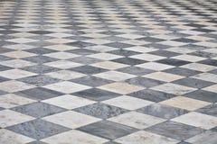Plancher carré de marbre Photo stock
