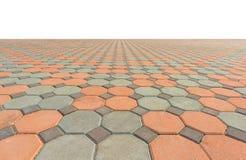 Plancher carré en béton vide Image stock