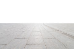 Plancher carré en béton vide Photographie stock