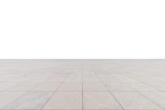 Plancher carré en béton vide Photos stock