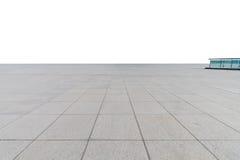 Plancher carré en béton vide Photos libres de droits