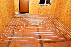 Plancher chaud de l'eau. Photos stock