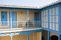 Plancher colonial de bâtiment deuxièmes Image stock