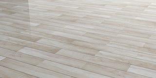 plancher 3d en bois poli par rendu illustration stock