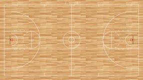 Plancher de basket-ball - femmes réglementaires Photographie stock libre de droits