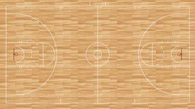 Plancher de basket-ball - hommes réglementaires de NCAA Images stock