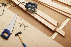 Plancher de bois dur Photo libre de droits