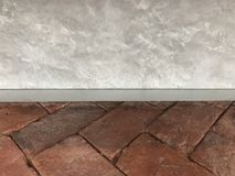 Plancher de brique de Brown pour l'affichage du produit ou pour le montage Photo libre de droits