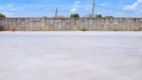 Plancher de ciment de fond en parking Image libre de droits