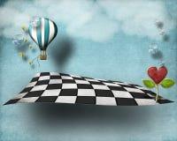 Plancher de flottement surréaliste Photo stock