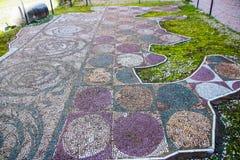 Plancher de mosaïque des bains de Caracalla image stock