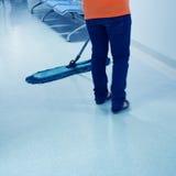 Plancher de nettoyage Photos stock