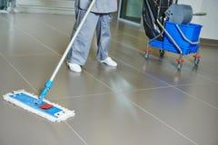 Plancher de nettoyage Image libre de droits