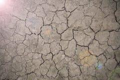 Plancher de sécheresse avec la lumière de l'espoir Photos stock