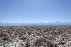 Plancher de sel de Salar de Atacama Photos stock