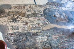 Plancher de St orthodoxe grec George Basilica, Madaba Photos stock