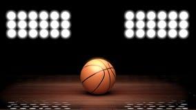 Plancher de terrain de basket Photo stock