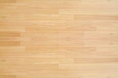 Plancher de terrain de basket d'érable de bois dur vu d'en haut Photos libres de droits
