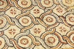 Plancher de tuiles de mosaïque en parc national de Césarée Maritima photos libres de droits