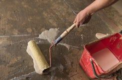 Plancher en béton de amorçage Images stock