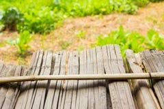 Plancher en bambou de bâton de fond Images libres de droits