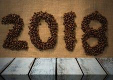 Plancher en bois avec le fond 2018 Images stock