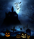 Plancher en bois avec le fond de Halloween Images libres de droits