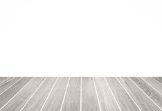 Plancher en bois blanc et espace vide blanc Photo libre de droits