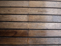 Plancher en bois dans le jardin Image stock