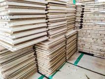 Plancher en bois de bois de construction photo stock