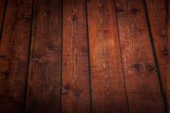 Plancher en bois de brun de fond pour le papier peint Photo libre de droits