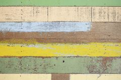 Plancher en bois de couleur pour des buildingmaterials Photos stock