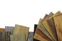 Plancher en bois de texture Échantillons de carrelage de stratifié et de vinyle dessus Image libre de droits