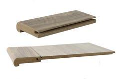Plancher en bois de texture Prélève la couleur de la La d'accessoires de bordure d'escalier images stock