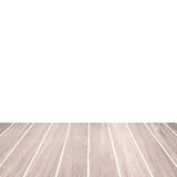 Plancher en bois et espace vide blanc Photo stock