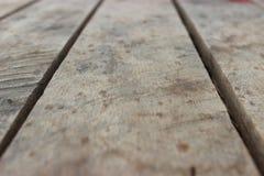 Plancher en bois extérieur la maison Image stock