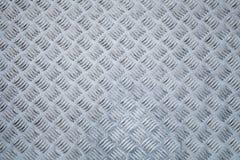 Plancher en métal, modèle en relief de plat de diamant Photo libre de droits