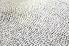 Plancher en pierre typique de Lisbonne Photographie stock