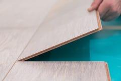 Plancher en stratifié images stock