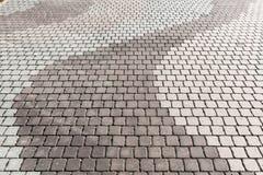 Plancher gris de ciment, vieux bloc de brique image libre de droits