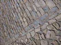 plancher médiéval de brique Photos libres de droits