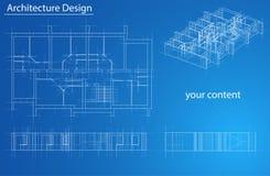 Plancher modèle de résidence Vecteur Image stock