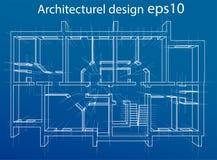 Plancher modèle de résidence Vecteur Images stock