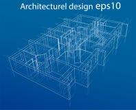 Plancher modèle de résidence Vecteur Image libre de droits