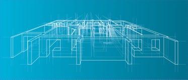 Plancher modèle de résidence Vecteur Photographie stock libre de droits