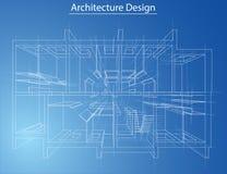 Plancher modèle de résidence Vecteur Photos stock