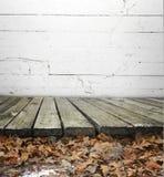 Plancher ou promenade en bois Photo stock