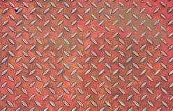 Plancher rouge en métal Photos libres de droits